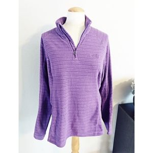 The North Face purple pullover fleece sz XL